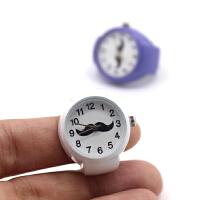 戒指表简单数字俏皮小胡子手表学生男女情侣石英手表创意礼物