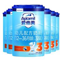【官方授权店铺】Aptamil爱他美3段幼儿配方奶粉800g罐装 1-3岁 宝宝奶粉德国进口 6罐