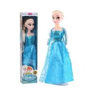 冰雪奇缘芭巴比娃娃爱莎公主玩具芭比娃娃洋娃娃套装装扮过家家女孩艾莎公主单个爱莎送儿童生日礼物 30 CM