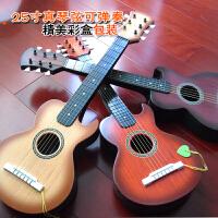 25寸非木质六弦可弹奏儿童小吉他玩具音乐器琴玩具送琴弦拨片 +背带+背包