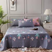 棉床盖三件套简约欧式绗缝夹棉加厚1.2m床单1.5m/1.8米床罩k