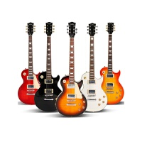 lp电吉他初学者经典LP吉他配音箱效果器套装电子吉他级