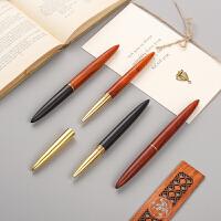 红木质签字笔金属水笔笔杆中性笔商务礼物个性