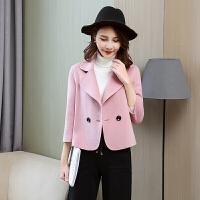 新年特惠双面大衣女韩版2019秋冬新款小个子呢子短款修身显瘦外套