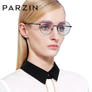 帕森圆框眼镜架文艺复古近视眼镜男女金属大框潮人眼镜框5070
