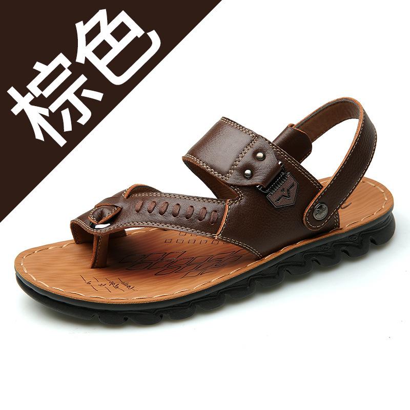 2019新款夏季男士休闲凉鞋男沙滩鞋中老年拖鞋子批发
