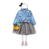 宝宝连衣裙 女童童装儿童拼接裙裙子