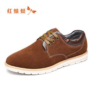红蜻蜓男鞋休闲皮鞋秋冬休闲鞋子男WYD7160