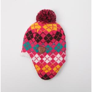 【1件9折 2件8折】kk树男童女童帽子加绒保暖小孩儿童帽子卡通
