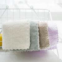儿童毛巾4条装小方巾宝宝口水巾柔软吸水婴儿加厚小毛巾y