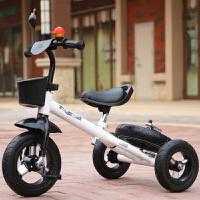 儿童三轮车脚踏车多功能童车三轮漂移车儿童平衡车变形车新款溜娃车 白色 铝合金轮三功能