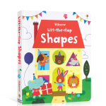 顺丰发货 英文原版 Usborne Lift-The-Flap Shapes 形状认知翻翻纸板书 低幼儿童英语单词启蒙