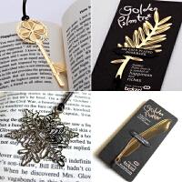镀金清新简约书签可爱精美树叶金属文化礼物文