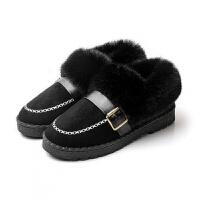 豆豆鞋女冬棉鞋女冬加绒2018新款毛毛鞋女冬外穿子秋女鞋冬一脚