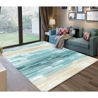 现代简约客厅满铺沙发茶几地毯家用几何北欧卧室床边毯可机洗定制k