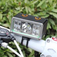 自行车灯 前灯 T6灯珠远射强光调焦手电筒山地车单车配件