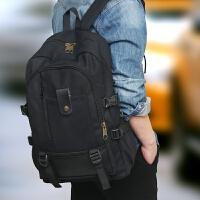 新款韩版男士双肩背包复古休闲旅游背包帆布中学生书包时尚潮背包