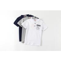 【专区39任选2件】加菲猫夏装儿童男童卡通印花T恤GTW17213