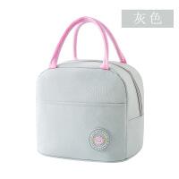 保温饭盒袋子便当包手提包防水女带饭手提袋保温袋铝箔加厚饭盒包 浅灰色 升级保温款
