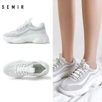 Semir女士运动鞋2019秋季新款时尚潮流休闲运动鞋女