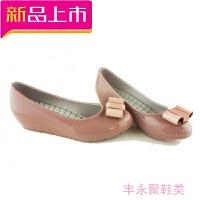 韩版滑雨鞋女士低帮单鞋果冻浅口水鞋坡跟胶鞋水雨靴短筒套