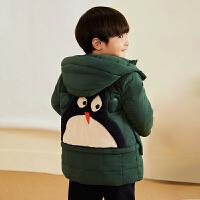 【2件2.5折后到手价:199.75元】马拉丁童装男小童棉袄冬装新款中长款面包服保暖连帽棉袄外套