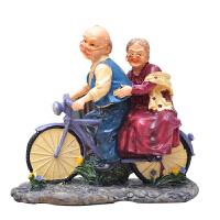 幸福单车老头老太客厅酒柜电视柜摆件家居装饰品摆设结婚礼物礼品