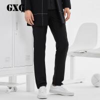 【联合超品日 2.5折到手价:147.25 】GXG男装 冬季男士修身时尚黑色商务都市休闲裤#64202316