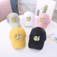 夏季新款韩版棒球帽网眼儿童防晒遮阳帽男女童可爱鸭舌帽潮