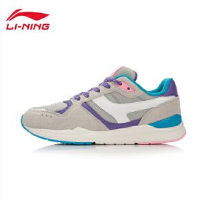 李宁休闲鞋女鞋运动生活系列光荣耐磨防滑复古运动鞋ALCL006