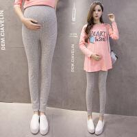 孕妇打底裤秋季印花托腹裤孕妇装秋装孕妇裤外穿长裤大码