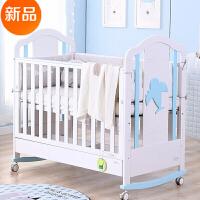 多功能婴儿床实木欧式拼接大床摇床宝宝床bb新生儿床带抽屉
