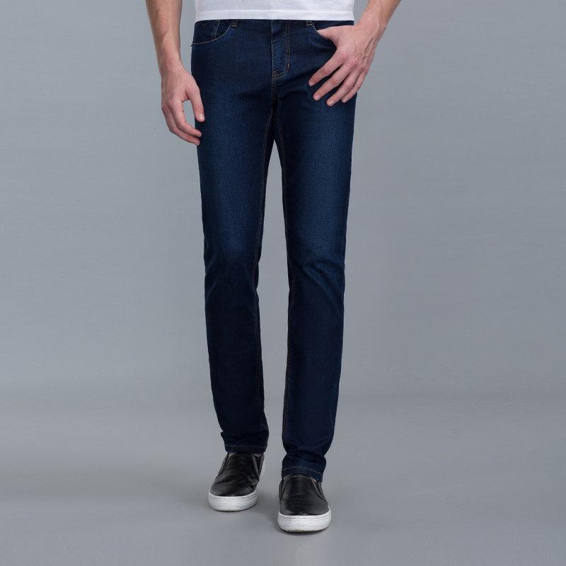 七匹狼牛仔裤 时尚商务休闲修身牛仔长裤 6.25-7.8满199-20/299-50/399-100