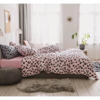 日式针织棉四件套 A类天竺棉裸睡单人三件套纯棉北欧床单床笠定制