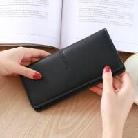 零钱包女士长款新款搭扣款多功能韩版个性小清新百搭皮夹