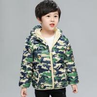 棉衣儿童男童女童羽绒中大童小孩轻薄款秋冬迷彩连帽外套
