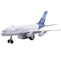 声光回力模型儿童玩具合金飞机A380客机空中客车大型客机