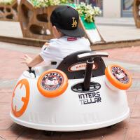 儿童电动车四轮摩托车汽车1-3摇摆童车4-5岁可坐碰碰车宝宝玩具车 +摇摆 +皮座+推杆功能