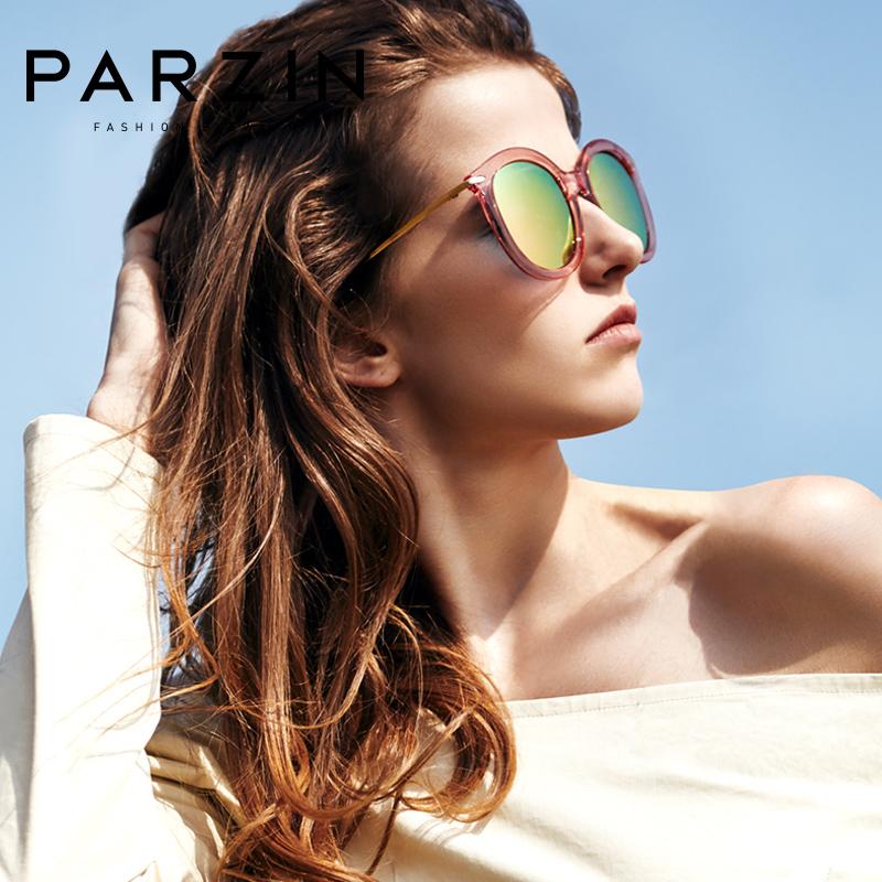 帕森TR90复古圆框偏光太阳镜 女士金属大框潮墨镜驾驶镜9807