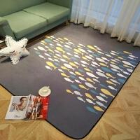 时尚北欧黑白斑马纹地毯客厅茶几地毯沙发卧室床边地毯定制满铺Y