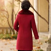 新年特惠妈妈冬装毛呢外套女2019新款40岁中老年人呢子大衣中长款毛领上衣