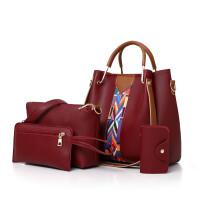 女包单肩斜跨包子母包斜挎新款韩版手提包时尚多件套手提包
