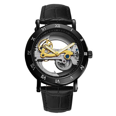 手表男士全自动机械表创意学生手表防水夜光新款皮带抖音男表