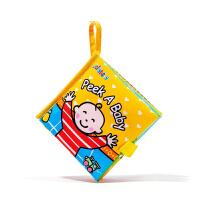 顺丰发货 英文版 布书 Peek a baby儿子早教婴儿立体宝宝书籍可咬响纸益智玩具0-2岁枕头书 带响纸不怕撕 趣