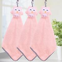 厨房擦手巾挂式可爱韩式公主吸水儿童卡通家用卫生间毛巾抹布y 25x40cm