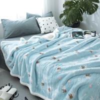 羊羔绒复合毛毯休闲珊瑚绒毯子单人双人加厚双层午睡空调盖毯