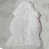 整张皮毛一体澳洲羊毛皮形沙发坐垫飘窗垫摄影羊毛垫床边地毯y