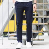 吉普JEEP春夏薄款运动裤男户外休闲跑步长裤健身居家长裤舒适松紧腰针织卫裤