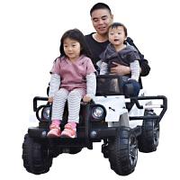 儿童电动车双人越野带遥控4-5岁双座小孩4轮玩具汽车可坐人两人 +双