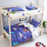 宿舍纯棉三件套床单学生单人1.2米被套床上用品0.9m全棉四套件定制